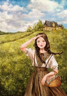 """애뽈 (Aeppol), """"들판 위의 소녀"""" (""""The Girl on the Field"""")"""
