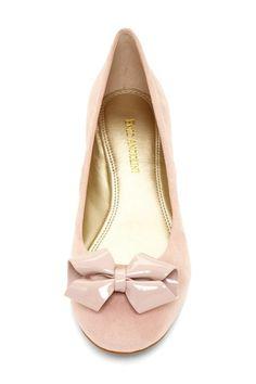 Blush bow flats