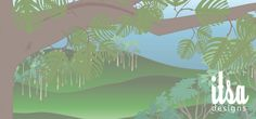 This jungle scene was created as a background for a website