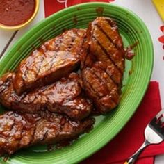 Chili-Beer Glazed Steaks Recipe from Taste of Home