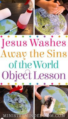 Teach children about Jesus washing away the sins of this world with this Jesus Bible object lesson for kids. It can be hard to teach kids the gravity of what Jesus has done for us. But Bible object lessons make it a lot easier for kids to grasp the harder Sunday School Crafts For Kids, Bible Crafts For Kids, Sunday School Activities, Bible Study For Kids, Church Activities, Preschool Bible Activities, Toddler Sunday School, Church Games, Youth Activities