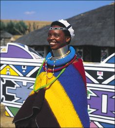 Although the origins of the South African Ndebele are shrouded in mystery, they have been identified as one of the Nguni tribes. The Nguni tribes African Beauty, African Fashion, Warrior Concept Art, I Am An African, African Wear, Tribal People, Africa Art, Art Costume, Lovely Smile
