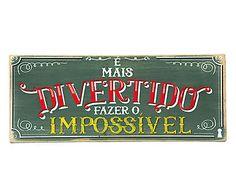 Box Decorativo É Mais Divertido - 30x12,5cm