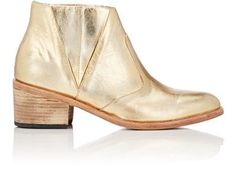 Esquivel Leather Chelsea Boots In Gold Esquivel, Leather Chelsea Boots, Distressed Leather, Slip On, Pairs, Booty, Heels, Gold, Collection