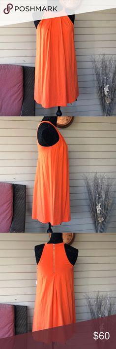 Tart Orange High Neck Shift Summer Dress Tart Orange High Neck Shift Summer Dress NWT This has a built in bra. Tart Dresses Mini