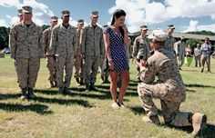 The Marine who spent seven months in Afghanistan waiting to propose to the love of his life:   22 Life-Affirming Photos Of Soldiers Coming Home From Deployment. Right in the Feels...
