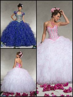 Vizcaya Quinceañera Dresses by Mori Lee- Style 88061. Layered ruffled tulle with beading, corset back  bolero jacket. Available to order in the following colors/themes:White/Pink Panther, Depp Purple/ Lime  White (Solid). If you have any questions about ordering, sizing, color or dress availability please contact Perfection Prom  Bridal at (813) 621-1991. We are conveniently located at 10312 Bloomingdale Avenue Riverview, FL 33578.