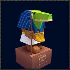 God of Ancient Egypt - Sobek Free Papercraft Download - http://www.papercraftsquare.com/god-ancient-egypt-sobek-free-papercraft-download.html