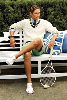 ready to play ralph lauren preppy prep tennis Tennis Outfits, Tennis Clothes, Preppy Outfits, Clothes Swag, Men Clothes, Preppy Clothes, Style Clothes, Style Preppy, Preppy Mode