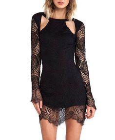 Off-the-shoulder Cutout Dress