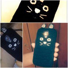 Black Cat   Crochet case on a Wiko Darknight BUY on Maparim