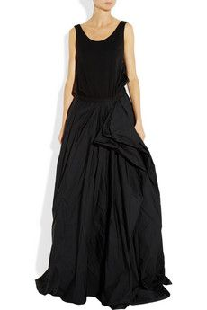 Lanvin Draped Wool - Jersey and Taffeta Gown