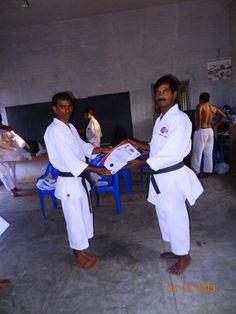 received the camp certificate from sensei gopalakrishnan