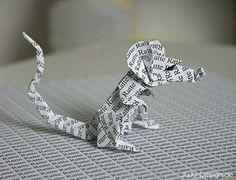 Sourie en origami