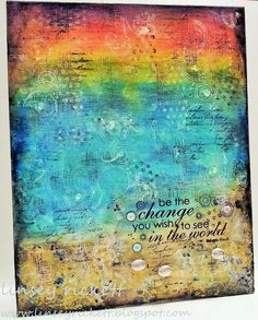 Be The Change Mixed Media Canvas