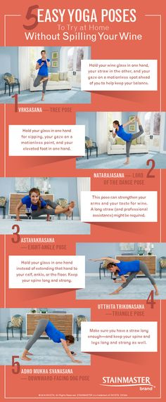 """Say """"Namaste,"""" then hit the hay. Here's how to do some easy yoga poses at home so you can achieve inner peace in your place."""