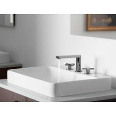 KOHLER Vox Above Counter Vitreous China Bathroom Sink In White With  Overflow Drain K 2660 8 0 At The Home Depot   Mobile