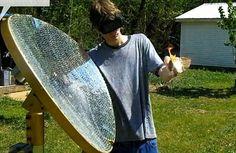 Satelite dish + mirrors