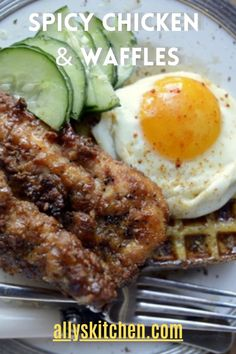 Man, oh, Man! This is the best spicy fried chicken tenders you'll ever bite into! Fried for crispy and baked for moistness! #easychickenandwaffle #chickenandwafflerecipe Buttermilk Fried Chicken Tenders, Spicy Fried Chicken, Making Fried Chicken, Pheasant Recipes, Frozen Waffles, How To Make Sandwich, Turkey Dishes, Chicken And Waffles, Quick Easy Meals