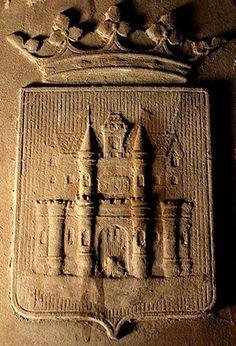 Représentation du château de Mons selon Félix Van Aerschodt. Carillon du Beffroi de Mons.