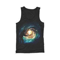 Men's Spray Nebula Tank Top Black ($13) ❤ liked on Polyvore featuring men's fashion, men's clothing, men's shirts, men's tank tops, black, mens tank tops and mens galaxy shirt