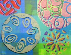 Printing with Gelli Arts®: Dropshadow Technique with Gelli® Plates & ScanNCut Stencils & Masks!