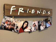 Friends TV Show, Friends Picture Hanger, Clothes Pin Picture Hanger, Dorm Decor Cute Birthday Gift, Friend Birthday Gifts, Diy Birthday, Birthday Quotes, Bff Gifts, Best Friend Gifts, Gifts For Friends, Santa Gifts, Funny Gifts