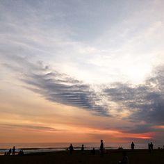Sunset in Petitenget beach, Bali