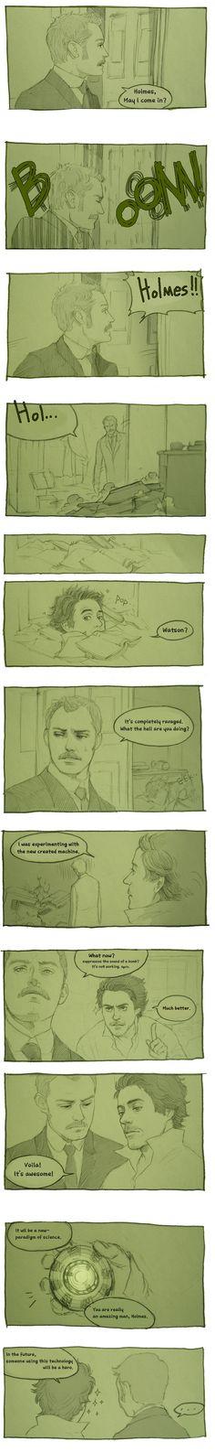 http://hallpen.deviantart.com/  Holmes n Watson by Hallpen
