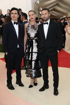 Lazaro Hernandez, Brie Larson in Proenza Schouler and Jack McCollough.