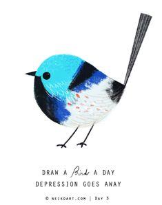 每天畫一隻鳥類的計劃