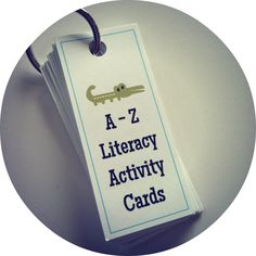 Free A-Z Literacy Activity Cards