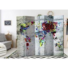 Paraván - Graffiti World [Room Dividers] 5 részes cm - ajandekpont. Graffiti Room, Decoration Originale, Street Art, Tapestry, World, Painting, Home Decor, Room Dividers, Products