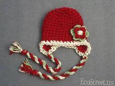 Crochet Santa Hat – Crochet For Beginners Crochet Santa Hat, Crochet Christmas Hats, Crochet Kids Hats, Holiday Crochet, Crochet Crafts, Yarn Crafts, Crochet Projects, Crocheted Hats, Free Crochet