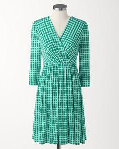 Mini checks dress #ColdwaterCreek