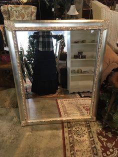 Silver Corner Leaf Beveled Mirror - Auburn - $95