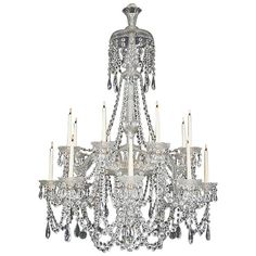 Victorian Sixteen-Light Cut Glass Antique Chandelier by Perry&Co | From a unique collection of antique and modern chandeliers and pendants  at https://www.1stdibs.com/furniture/lighting/chandeliers-pendant-lights/