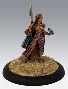 Desert Wings - Female Warrior with Hawk