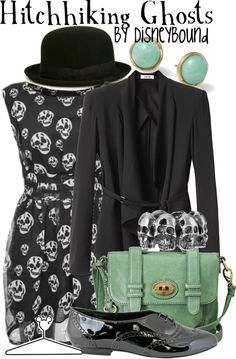 """Hitchhiking Ghosts"" by lalakay ❤ liked on Polyvore"