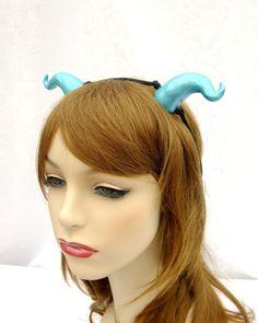 Ocean Blue Satyr Horns Blue Dragon Horns Water by RuthNoreDesigns, $16.00