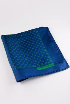 DIBI Mediterranean Stars Made In Italy Silk Pocket Square