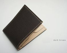 Handmade leather Wallet Billfold Credit card case por dextannery