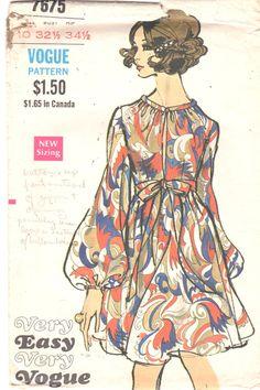 Vogue 76751960s Misses Evening Dress Pattern Deep by mbchills