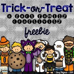 Halloween: Low prep, fact family freebie! Trick-or-Treat style!