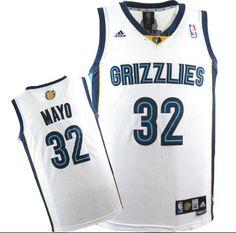 9e415d087a5 Adidas NBA Memphis Grizzlies 32 OJ Mayo Swingman White Jersey