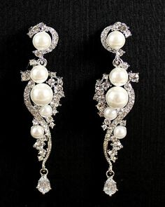 bridal jewelry | earrings https://www.etsy.com/shop/SacredbyBrandy