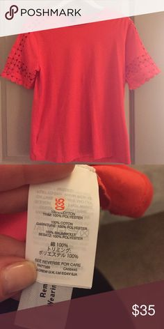 NWOT Jcrew embroidered top Never worn! Great color and detail! J. Crew Tops