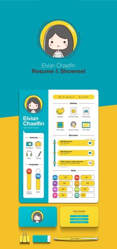 You only have 6 seconds to impress a recruiter. Make them count. Get inspired by this curated gallery and create your own Resume for free using our templates. This captivating CV was designed by Elvian Chaelfin.