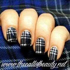 The Call of Beauty: Nail Art of the Day: Blue Tartan Acrylic Nail Designs, Nail Art Designs, Acrylic Nails, Plaid Nails, Nail Time, Nail Blog, Nail Stamping, Winter Nails, Christmas Nails