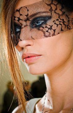 Chanel Black Lace Mask ♥ Bianca Balti